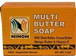 NINON MULTI-BUTTER SOAP with Shea Butter, Cocoa Butter, Mango Butter & Vitamin E (5 oz.)