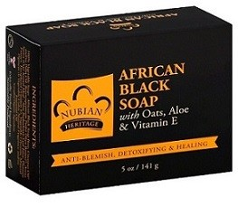 Nubian Heritage African Black Soap with Oats, Aloe & Vitamin E (5 oz)